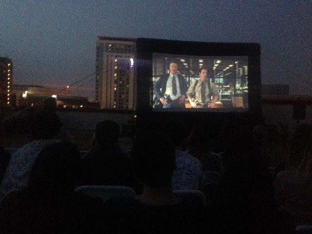 Dayana at rooftop cinema the departed - dark screen