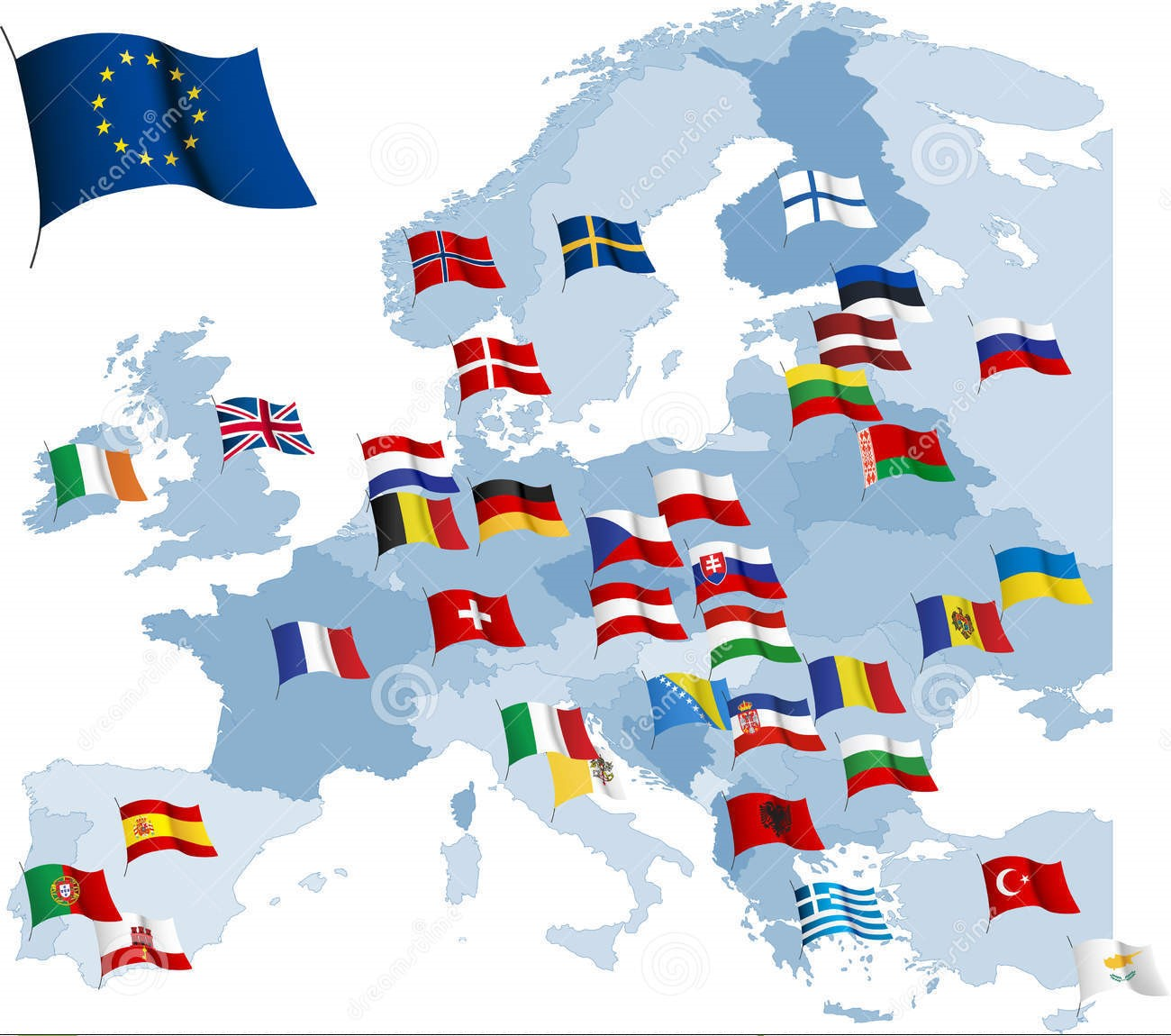 european-country-flags-map