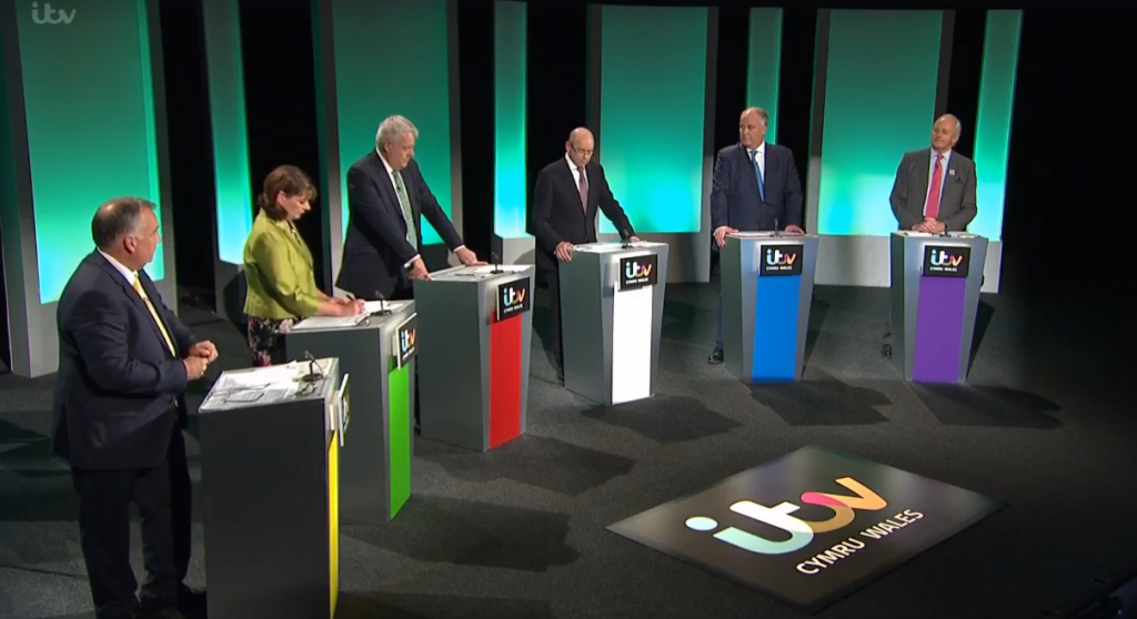The five main parties lined up for ITV Wales' leaders debate