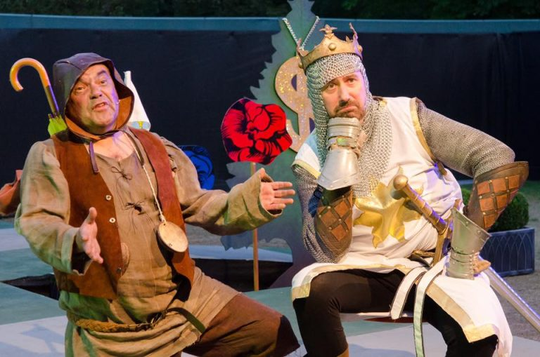 Spamalot cast shot Cardiff open air theatre festival