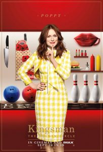 Julienne Moore as Poppy in Kingsman: The Golden Circle