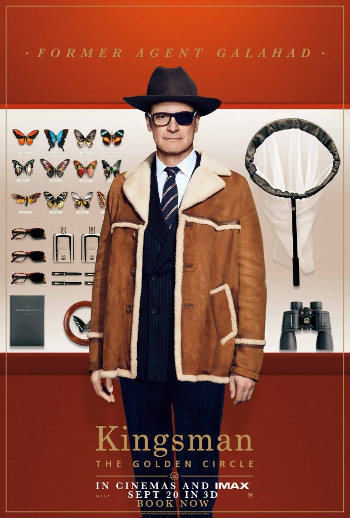 Colin Firth, as former agent Galahad in Kingsman: The Golden Circle