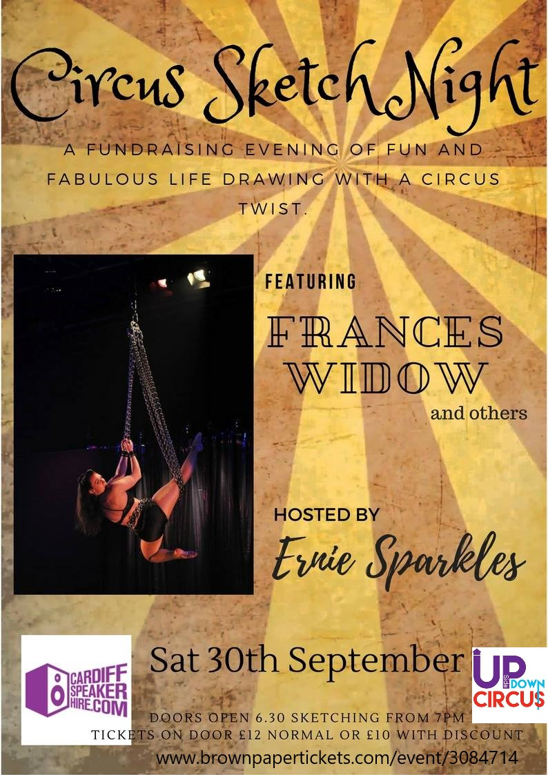 A fundraising evening of fun and fabulous life drawing with a circus twist.