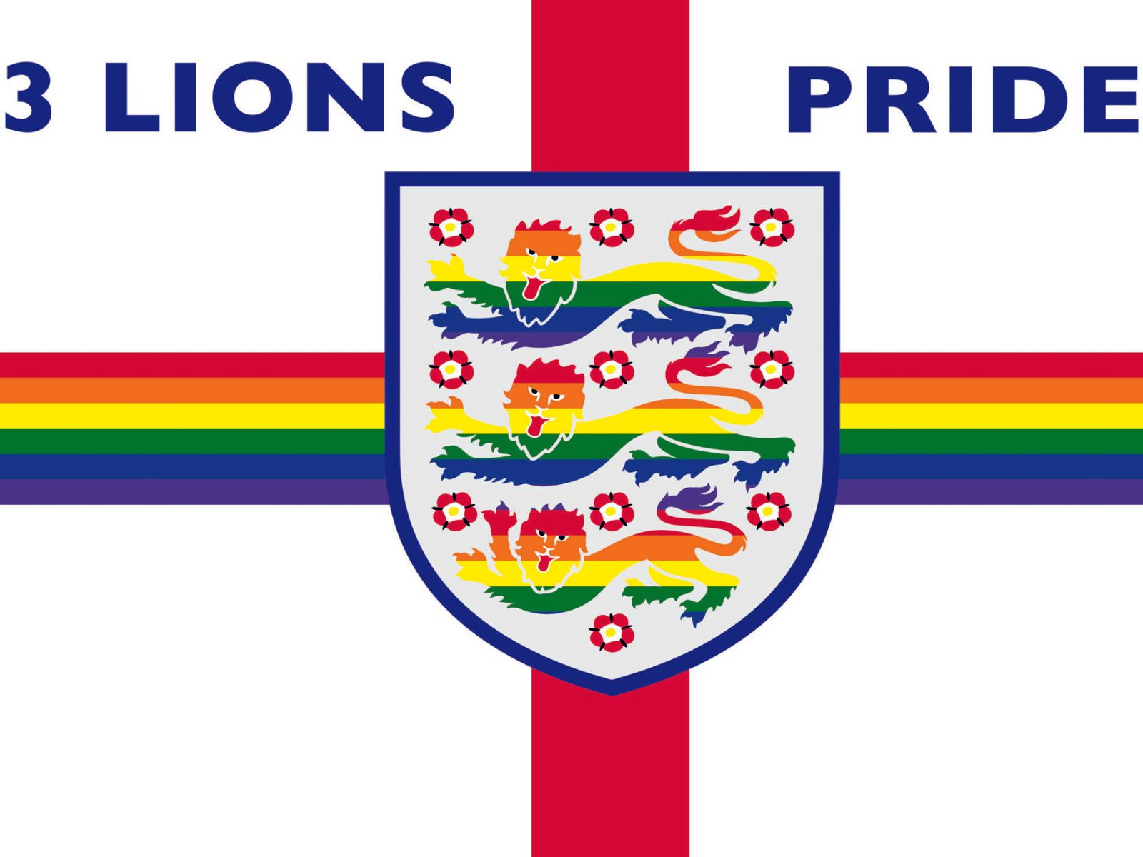 3 Lions Pride Flag