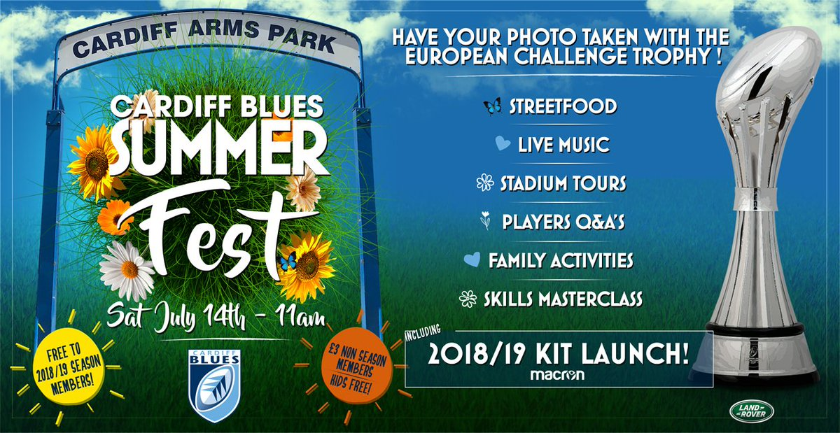 Cardiff Blues Summerfest - graphic by Cardiff Blues