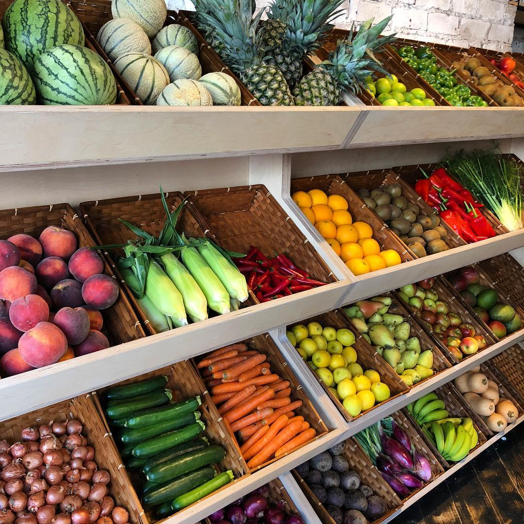 Photo of the fruit and vegetable section