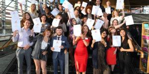 Uprising Graduation ceremony in the Senedd in Cardiff bay.   Pic:Tom Martin © WALES NEWS SERVICE