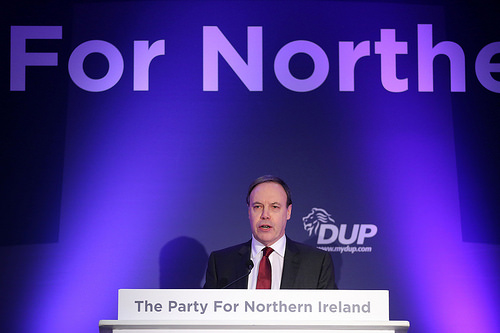 A DUP politician at their annual conference in 2015. For confidence and supply article