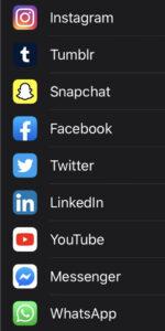 List of social media apps