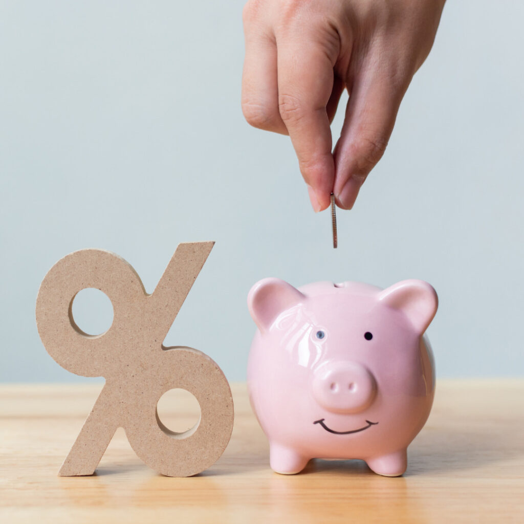 Interest gained from saving money in a savings account